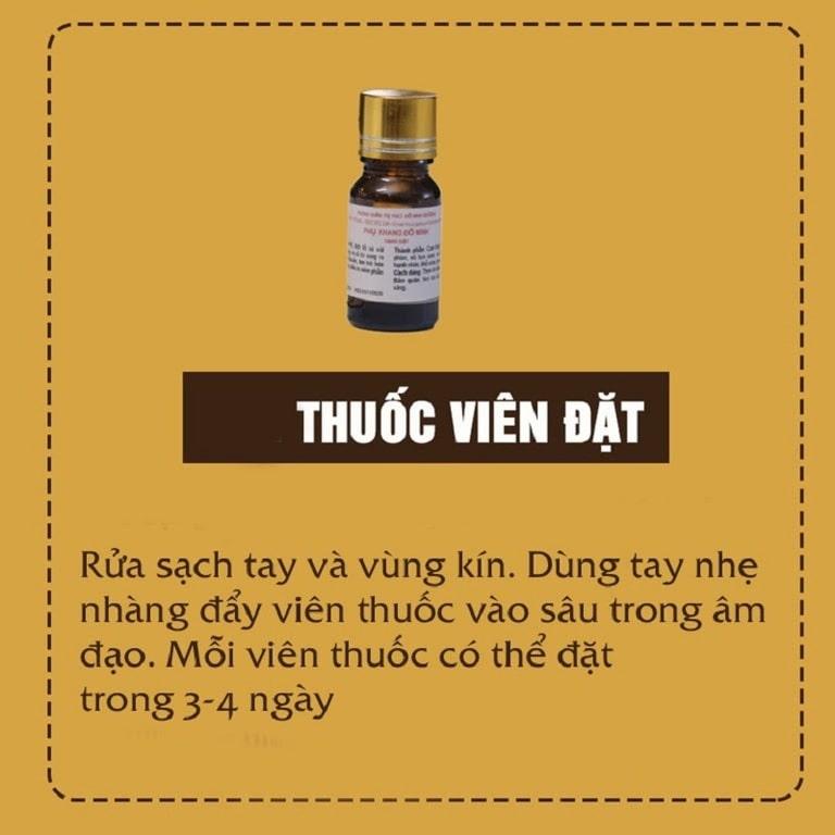Thuốc đặt viêm âm đạo Phụ Khang Đỗ Minh