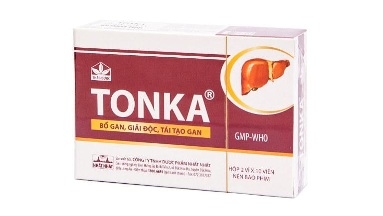 Thành phần chính trong mỗi viên thuốc Tonka đó là các loại dược liệu tự nhiên như bạch truật, đảng sâm, phục linh, cam thảo,...