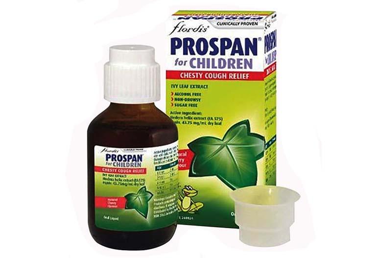 Sản phẩm Prospan được chiết xuất từ lá thường xuân và một số thảo dược lành tính khác