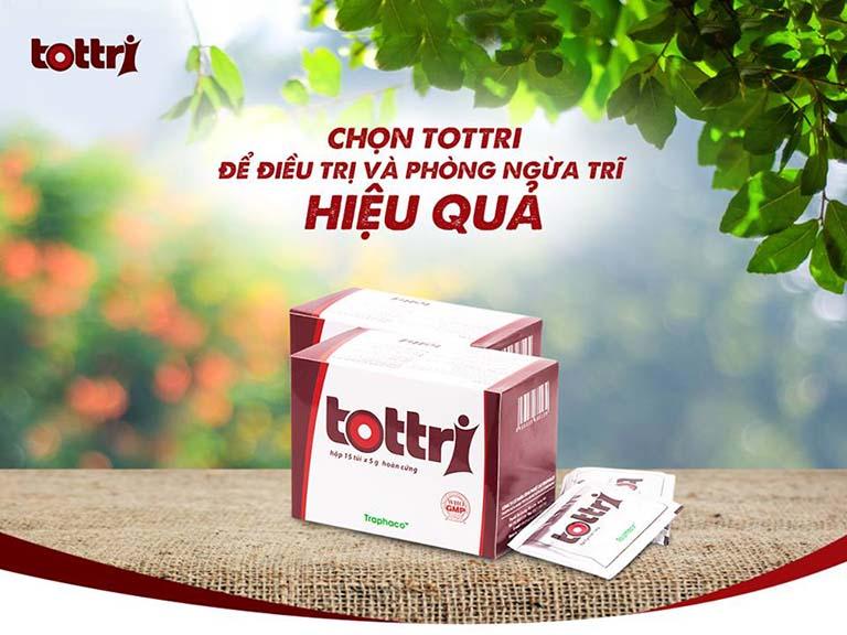Những thông tin cần biết về sản phẩm Tottri - Điều trị và phòng ngừa bệnh trĩ