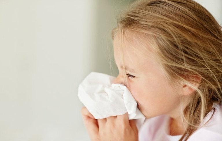 Khi mắc bệnh trẻ thường xuất hiện triệu chứng nghẹt mũi, sổ mũi, ngứa mũi,...