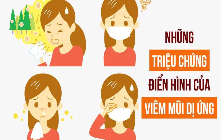 Các triệu chứng viêm mũi dị ứng điển hình