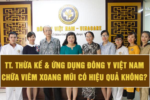 Trung tâm thừa kế và ứng dụng đông y Việt Nam chữa viêm xoang