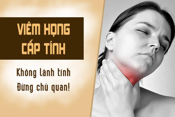 Bệnh viêm họng cấp