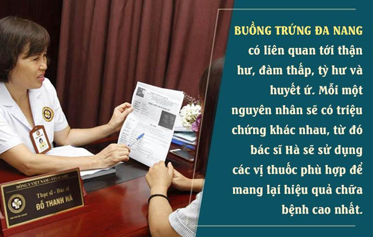 Bác sĩ Hà luôn điều trị dựa trên căn nguyên bệnh, tạo nên điểm khác biệt cho bài thuốc
