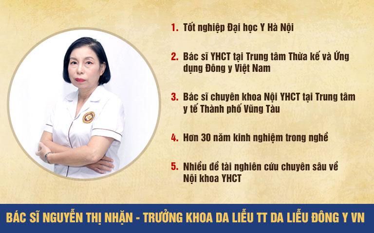 Bác sĩ Nguyễn Thị Nhặn - Chuyên gia da liễu hàng đầu