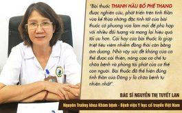 Bác sĩ Tuyết Lan nhận xét về bài thuốc Thanh hầu bổ phế thang