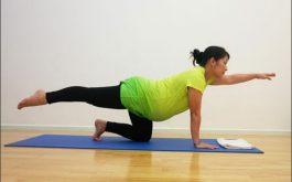 Bài tập cho bụng dưới giúp mẹ bầu giảm đau cột sống.