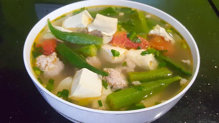 Món ăn từ đậu bắp chữa khô khớp