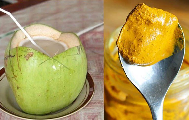 Nước dừa có tác dụng kháng sinh giúp giảm đau