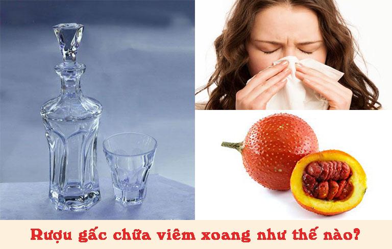 Cách ngâm rượu hạt gấc chữa viêm xoang