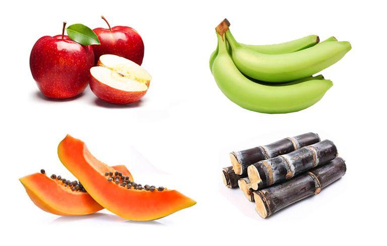 công thức chữa đau dạ dày bằng chuối xanh kết hợp với đu đủ, táo tây, mía lau rất hiệu quả