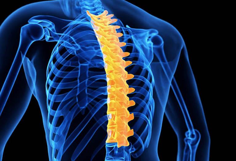 Gãy đốt sống gây đau nhói sau lưng trên bên phải và bên trái