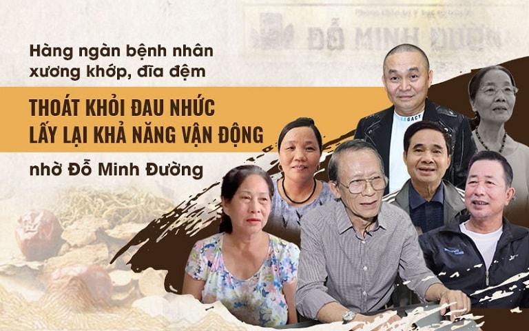 NSƯT Văn Báu, nghệ sĩ Xuân Hinh và hàng ngàn bệnh nhân khác đã thoát khỏi đau nhức xương khớp nhờ Đỗ Minh Đường