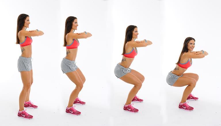 Động tác squat không chỉ tốt cho xương chậu mà còn hỗ trợ cải thiện tình trạng thoái hóa đốt sống cổ và lưng.