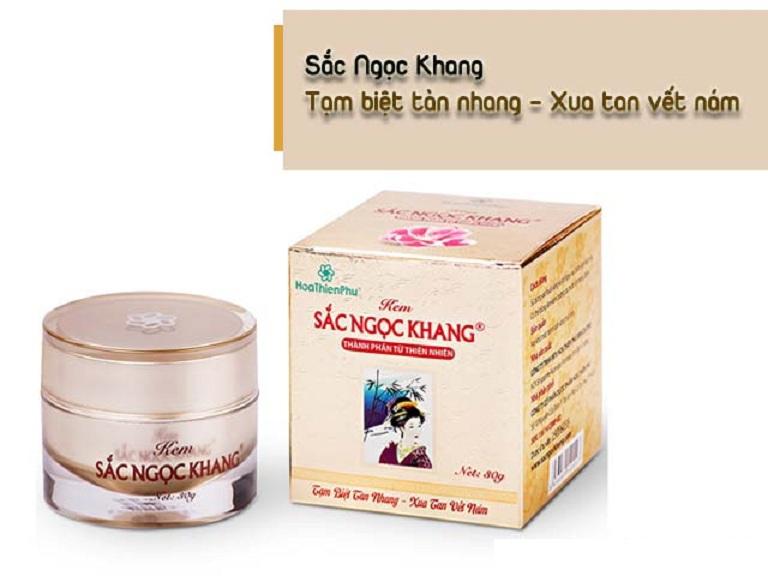Kem trị nám hàng Việt Nam Sắc Ngọc Khang được nhiều người đánh giá mang lại hiệu quả tố