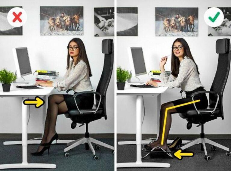 Ngồi đúng tư thế là một trong những cách hiệu quả phòng xẹp đĩa đệm cột sống lưng và các bệnh lý khác về xương khớp.