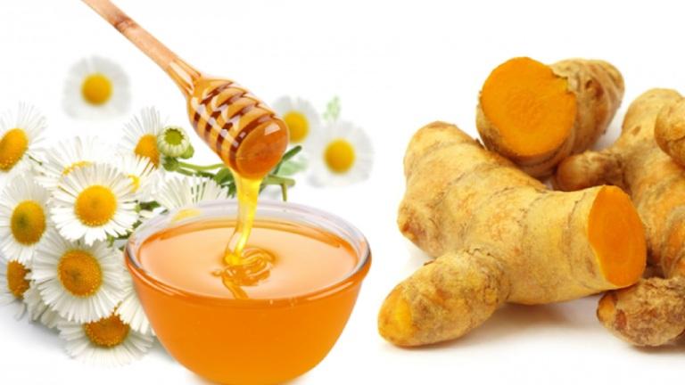 Mật ong và nghệ là bài thuốc giảm đau dạ dày tốt