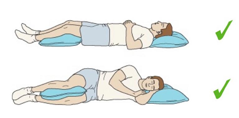 Tư thế nghĩ ngơi thích hợp cho người bị đau vùng thắt lưng
