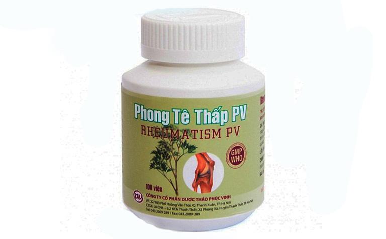Thực phẩm chức năng Phong tê thấp PV được bào chế từ 18 loại thảo dược có sẵn trong tự nhiên