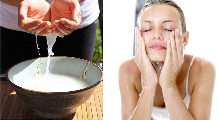 Rửa mặt bằng nước vo gạo giúp trị nám da hiệu quả