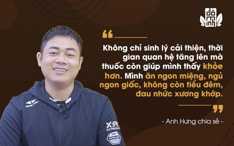 Anh Hưng đánh giá cao hiệu quả bài thuốc Sinh lý nam Đỗ Minh