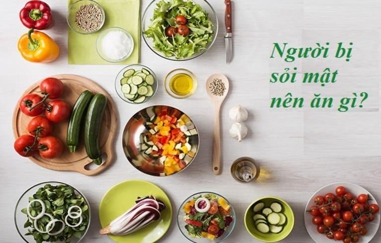 Chế độ ăn uống có ảnh hưởng rất lớn đến tình trạng bệnh sỏi mật