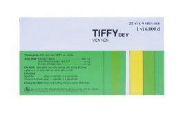 Thuốc Tiffy có tác dụng gì? Thành phần và tác dụng phụ