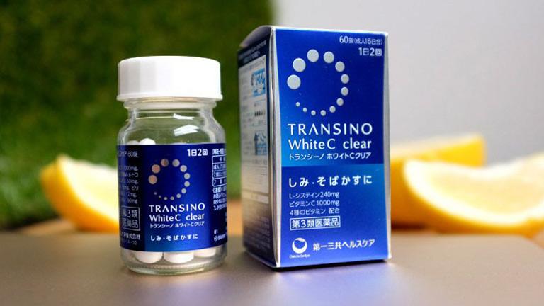 Thuốc uống trị nám chân sâu Nhật Bản TRANSINO White C