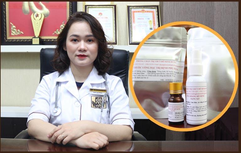 Bác sĩ Ngô Thị Hằng sẽ trực tiếp tư vấn cho chị em sử dụng bài thuốc Phụ khang Đỗ Minh