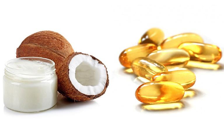 Đánh bay thâm nám bằng dầu dừa và vitamin E tại nhà