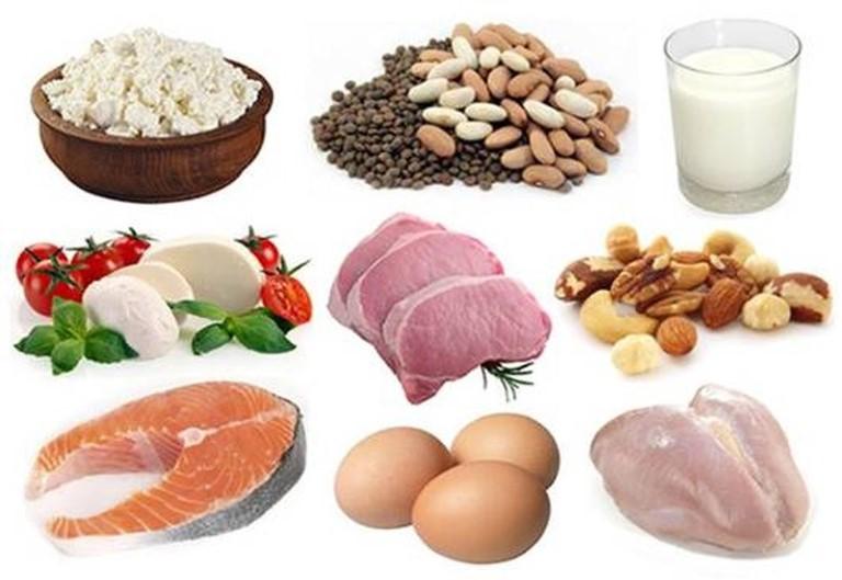 thịt, cá, trứng, sữa