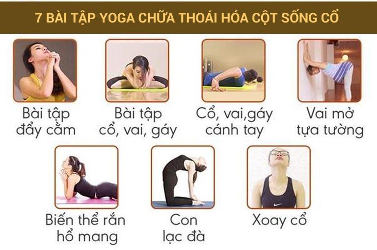 Bài tập yoga chữa thoái hóa cột sống cổ