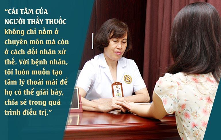Bác sĩ Thanh Hà cũng là một người phụ nữ nên bà rất hiểu và luôn cố gắng điều trị, mang đến sự hài lòng cho bệnh nhân