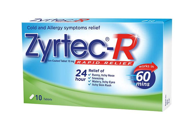Zyrtec giúp làm giảm triệu chứng viêm mũi dị ứng nhanh chóng