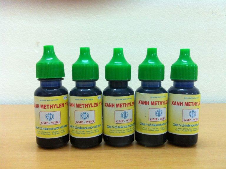 Bị zona bôi Xanh Methylen