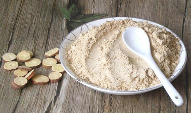 Đắp bột cam thảo để đẩy lùi các triệu chứng của zona thần kinh