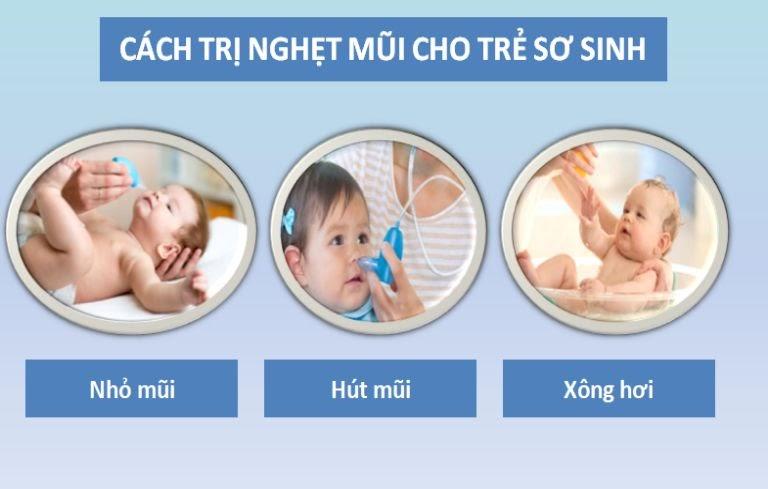 Cách trị nghẹt mũi cho trẻ em