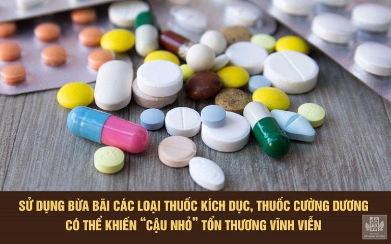 Sử dụng thuốc kích dục, cường dương bừa bãi có thể gây liệt dương vĩnh viễn