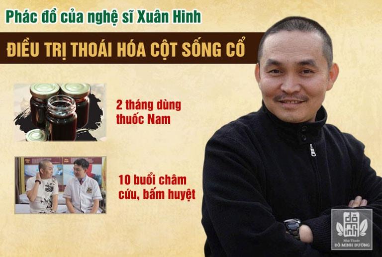 Phác đồ điều trị của nghệ sĩ Xuân Hinh tại nhà thuốc Đỗ Minh Đường