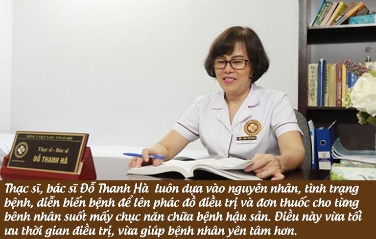 Bác sĩ Thanh Hà và nguyên tắc áp dụng trong phương pháp chữa hậu sản nhiều năm nay
