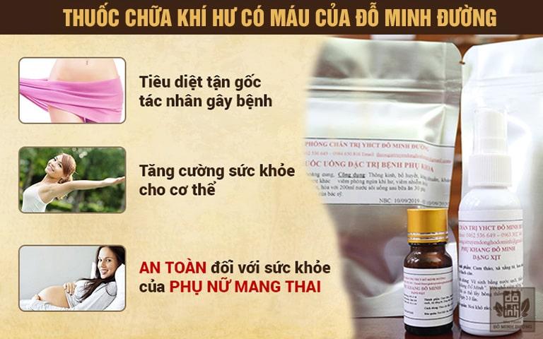 Bài thuốc Phụ khang Đỗ Minh cho người bị ra khí hư lẫn máu