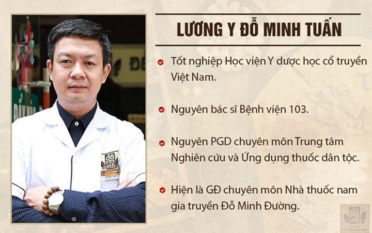 Lương y Đỗ Minh Tuấn là người có chuyên môn và giàu kinh nghiệm trong chữa thoái hóa cột sống