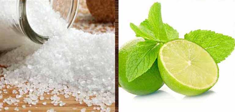 Sử dụng chanh và muối để điều trị nấm da đầu giúp loại bỏ các tác nhân gây bệnh