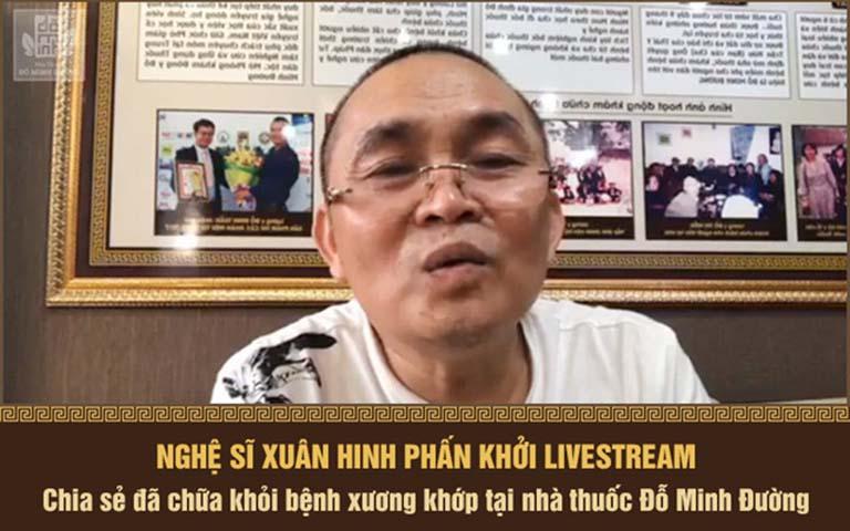 Nghệ sĩ Xuân Hinh đã chữa khỏi thoát vị đĩa đệm cổ ở Đỗ Minh Đường