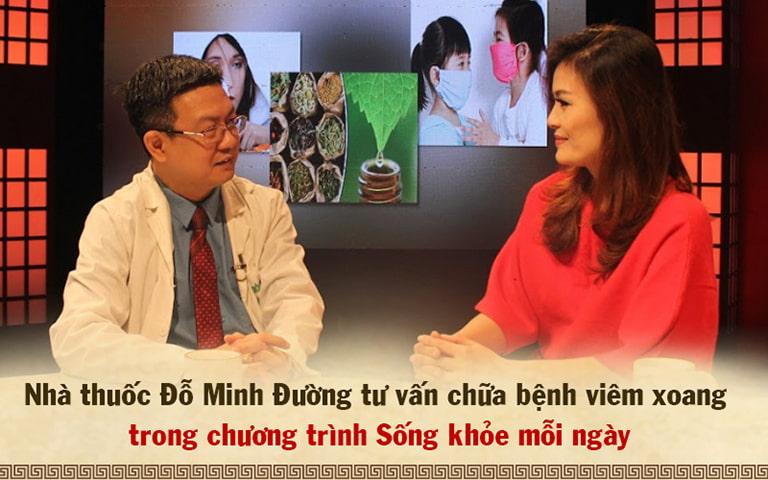 Lương y Đỗ Minh Tuấn và diễn viên Hoa Thúy tham gia chương trình Sống khỏe mỗi ngày