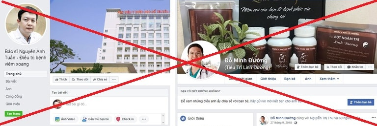 Thông tin giả mạo thầy thuốc Tuấn nhan nhản trên các mạng xã hội