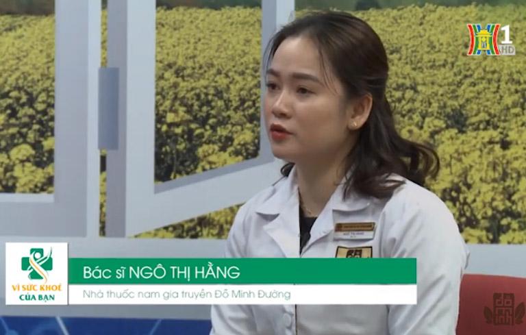 Bác sĩ Ngô Thị Hằng chai sẻ kiến thức bệnh phụ khoa trên chương trình vì sức khỏe của bạn