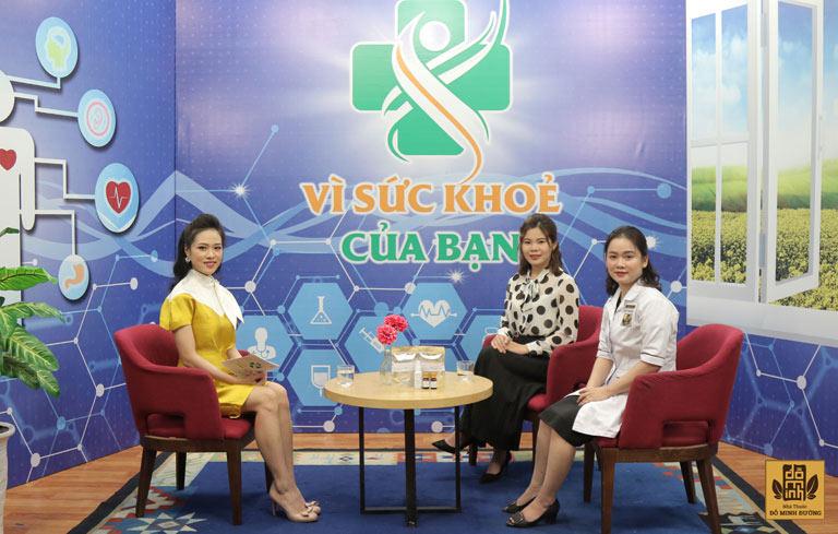 Bác sĩ Hằng là chuyên gia đại diện nhà thuốc tham gia chương trình để tư vấn bệnh cho chị em