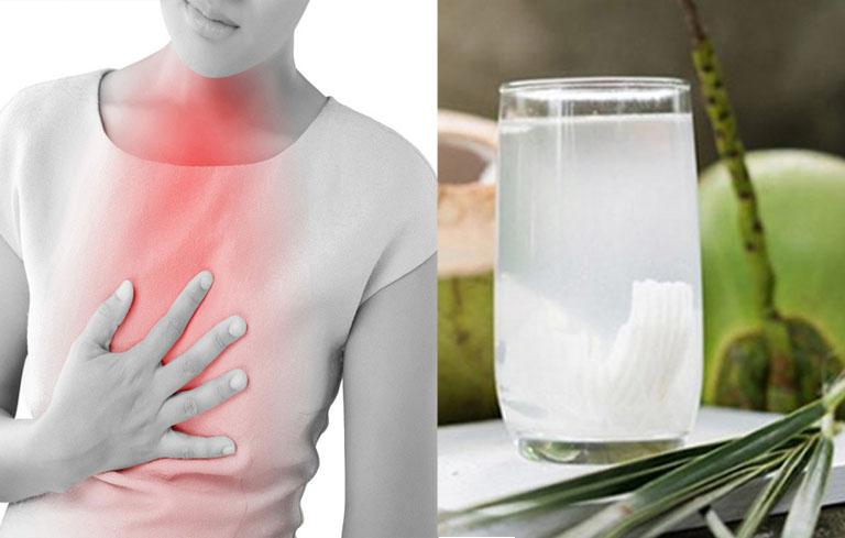 Uống nước dừa giúp giảm trào ngược hiệu quả